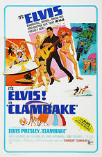 """CLAMBAKE"" ... ELVIS PRESLEY..Classic Movie Poster A1A2A3A4 Sizes"