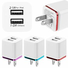 US Plug Dual USB 2.1A+1A Wall Travel AC Charger Adapter For iPhone Samsung LG