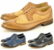 New Men's Casual Formal Lace Up Designer Brogue Fashion Shoes In UK Sizes 6-11