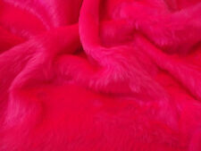Plain Fun Faux Fur Fabric Material BRIGHT CERISE PINK