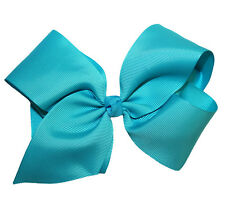 USA Seller New Large GrosGrain Knotted Boutique Hair Bow on French Clip Barrette