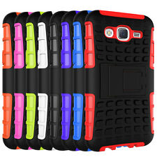 For Samsung Galaxy J5 Case Hybrid Dual Layer Protective Kickstand Phone Cover