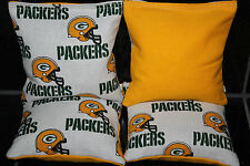 GREEN BAY PACKERS 4 Cornhole Bean Bags ACA Regulation Corn Toss Tailgate Game
