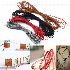 Pretty 10m Waxed Wax Cotton Cord Jewellery Bracelet Necklace Making String 1mm