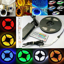 5M 12V SMD 5050 Waterproof White RGB 300 LED Strip Light+Power Adapter+44Keys RC