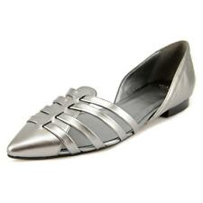Cole Haan Jitney Flat Women  Pointed Toe Leather Silver Flats