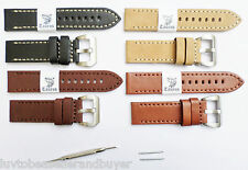 Taurus Genuine Calf Leather Watch Band Strap PreV 22mm, 24mm, 26mm For Panerai