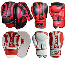 AQF Boxing Gloves with Focus Pads Curved Hook and Jab Punch Bag Kick MMA UFC