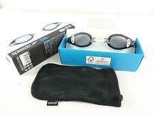 Speedo Mariner Mirror Optical Smoke Antifog UV Protection Swimming Goggles Minus