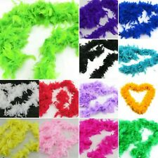 New Solid Fluffy Feather Boa Dressup Hen Night Wedding Party Burlesque Dress Up