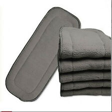 baby Washable Cloth Diaper Nappies Microfiber Bamboo Charcoal Bamboo Inserts
