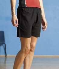 Finden & Hales Ladies Sports Shorts Womens Microfibre Black Navy S - XXL New