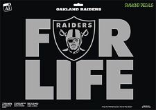 Oakland Raiders Shield For-Life NFL Football Vinyl Decal Car Window Sticker