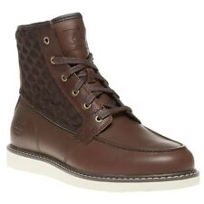 New Mens Timberland Brown Newmarket Moc Toe Leather Boots Chukka Lace Up