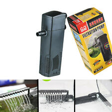220V Aquarium Internal Filter FishTank Submersible Pump +Spray Bar +Pipe
