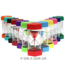 Set of 5 Large Sand Egg Timer SEN, ASD, ADHD 12 Time Durations to Choose From.