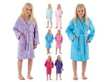 Kids Girls Fleece Dressing Gown Bath Robe Housecoat Childrens Xmas Gift 7 - 13 Y