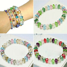 Girl's Fashion Crystal Faceted Loose beads Bracelet Stretch Bangle beauty