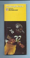 OFFICIAL 1984 PITTSBURGH STEELERS MEDIA GUIDE