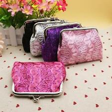 Retro Women Change Coin Bags Small Sequin Wallet Card Holder Bags Clutch Handbag