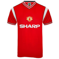 Manchester United FC Official Soccer Gift Mens 1985 Retro Home Kit Shirt Red