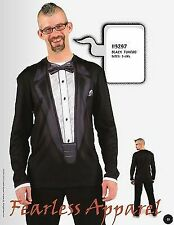 FAUX REAL SUBLIMATION TUXEDO TUX PROM WEDDING COSTUME OUTFIT T SHIRT TEE S-2XL