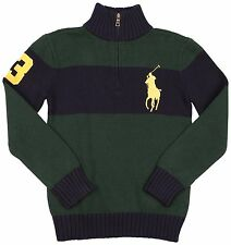 Polo Ralph Lauren Big Boys' (8-20) Big Pony 1/2 Zip Sweater-N/W Pine