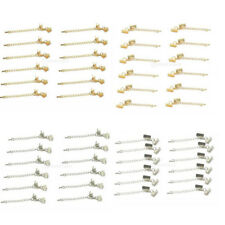 12pcs Clasp and Clips Ends Crimp Cord w.Extension Chain Clasp DIY Findings Craft
