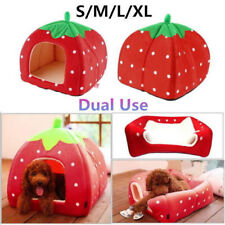 iPettie Soft Strawberry Pet Dog Cat Bed House Kennel Doggy Warm Cushion Basket