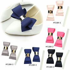Ribbon Bow Butterfly Shoe Clips Buckle Bridal Wedding High Heel Shoe Decor Pair