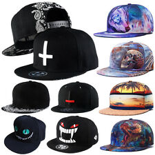 Fashion Mens Womens Hiphop Bboy Hat Adjustable Flat Snapback Baseball Dance Cap