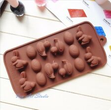 Easter Bunny etc & Easter Eggs Silicone Mold Chocolate Cookie Decorations