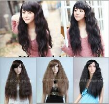 Corn Curly Wavy Cosplay Wig Women Fashion Sexy Brown Long Hair Full Wigs Hot New