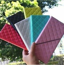 Long Leather 3D Diamond Travel Passport Cover Credit ID Card Cash Holder Wallet