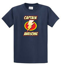 Captain Awesome Port & Co Printed Tee Shirts Mens Regular and Big and Tall Sizes