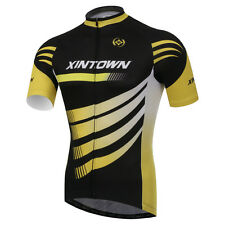 Cycling Jersey Yellow Wind Bike Jacket Quick Dry Bicycle Shirt Top S-4XL