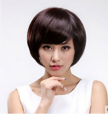 New Women Short Straight Synthetic Hair Wigs Full Wig Cosplay Anime Wig+Wig Cap