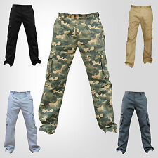 NEW Mens Combat Work Trousers Adults Cargo Style Pants Combats Regular Workwe