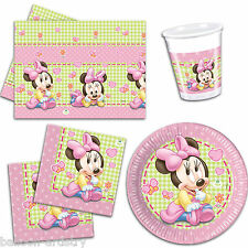 Disney Pink Baby Minnie Mouse Party Plates Napkins Cups Tableware Listing