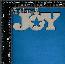 Chipboard Christmas Joy Word