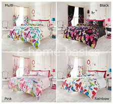 Butterfly Single Double King Duvet Quilt Cover Bedding Set with Pillow Cases