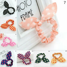 4PCs Cute Lovely Charm Elastic Bow Bunny Ears Hair Rope/String Headdress Flower