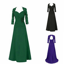 Formal Long Sleeve Evening Dresses New Long Chiffon V Neck Prom Party Ball Gown