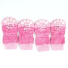 4pcs Pet Small Dog Warm Soft Socks Anti-Slip Cotton Knitted Non-Slip Socks D97