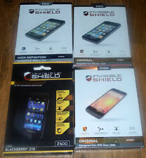 New ZAGG Invisible Shield Original High Definition for Apple HTC Blackberry
