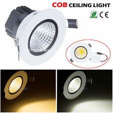 6/9/12/15W COB LED Ceiling Light Recessed Downlight Lamp Dimmable Bulb & Driver