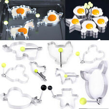 New Stainless Steel Fried Fry Frier Oven Poacher Pancake Poach Egg Rings Mold