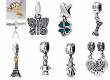 925 STERLING SILVER DANGLE PENDANT BEAD FITS EUROPEAN CHARM BRACELET BOY GIRL