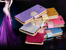 Bling-Bling Glossy Gilter Wallet Flip Case Cover For iPhone 6 & Plus 5 5S 5C SE