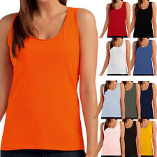 Hanes Tasty Womens Tagless Sleeveless Plain Cotton Camisole Vest Tank Top
